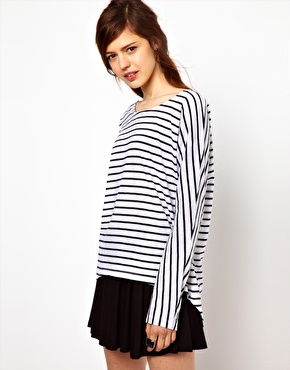 Just Female Long Sleeved Stripe Top