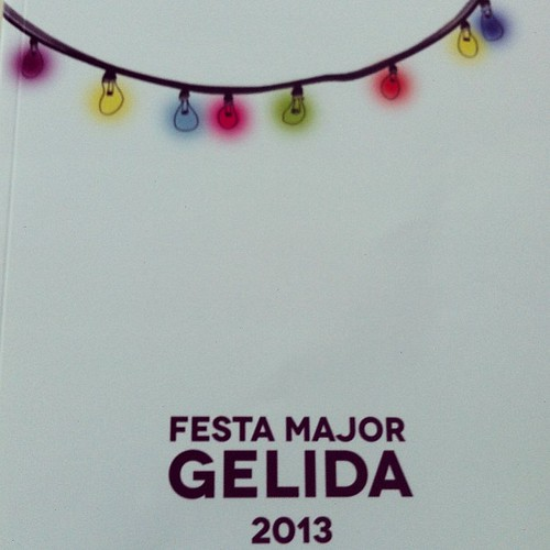 Cartell del Llibre de la #FMGelida presentat avui. Esteu convidats! #Gelida #Penedès