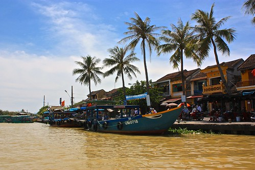 docking our boat back in Hoi An
