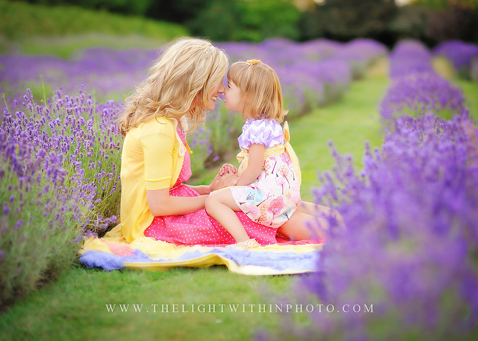 Victoria BC Family photographers lavender field