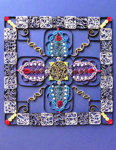 Quilled mosaic by Philippa Reid