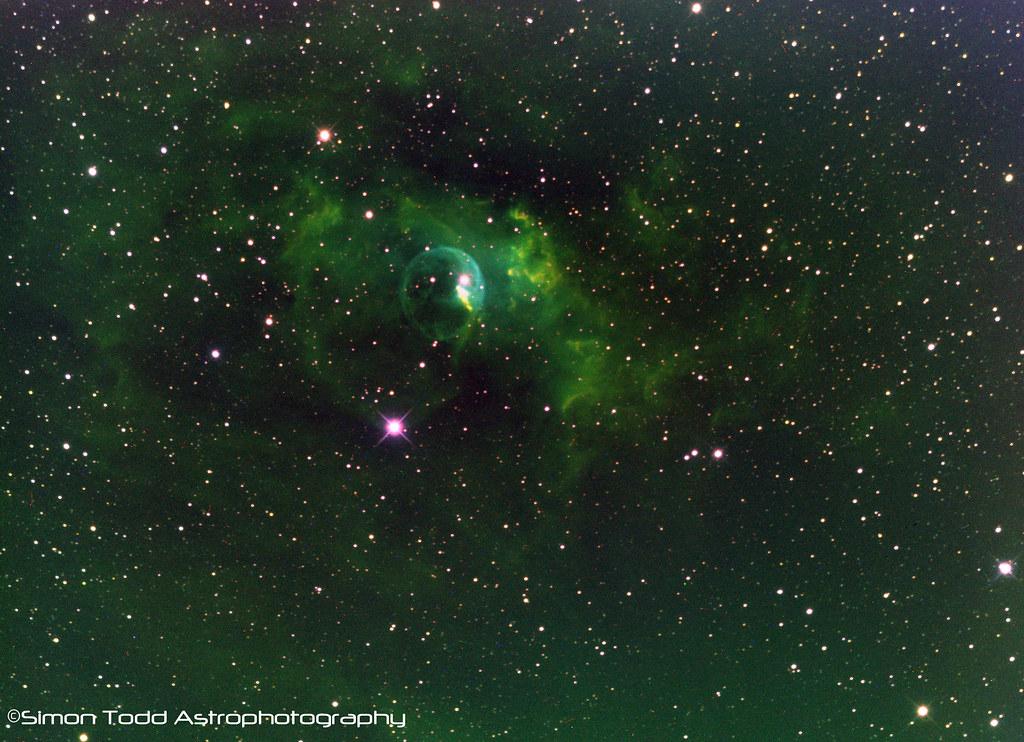NGC7635 - Bubble Nebula in Narrowband Hubble Palette   Flickr