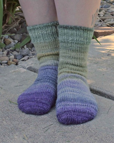 FatCatKnits - Wizard Island Socks - 2