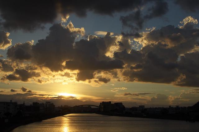 隅田川夕景 2013年9月3日