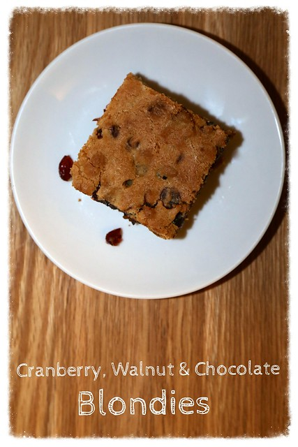 Cranberry & Walnut Blondies