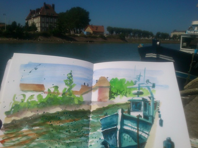 Normandy Holidays Homework #4 - Trouville fishboat and harbour