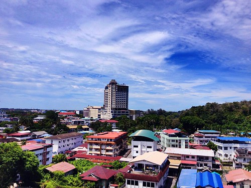 city travel sky streets cars nature clouds buildings town miri originalfilter
