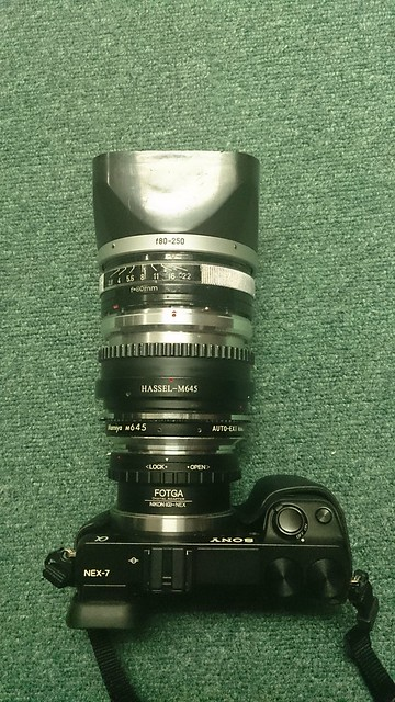 NEX 7 轉接Rolleiflex SL66鏡頭