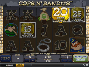 free Cops and Bandits slot Free Spins Feature
