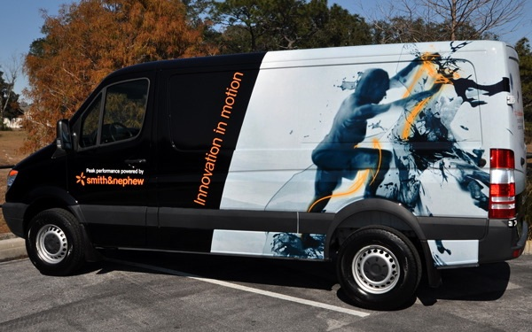 Custom Sprinter van vinyl wrap in Orlando