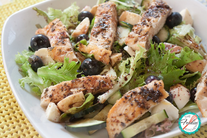 Chicken, Blueberry & Mozzarella Salad