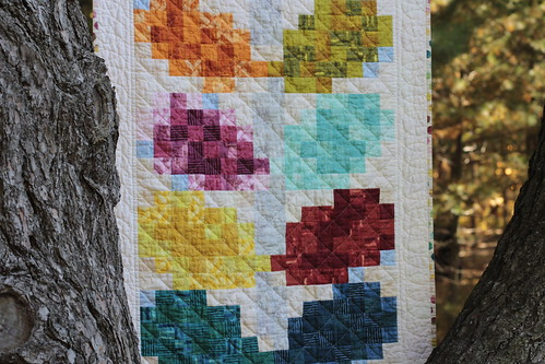 Pixelated Vine Quilt - c
