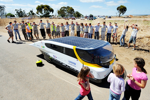 finish for Solar Team Eindhoven at the World Solar Challenge 2013