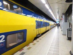Train at Schiphol Airport Station