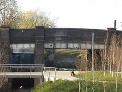 Austin Park - Longbridge - footbridge - former Longbridge Station bridge