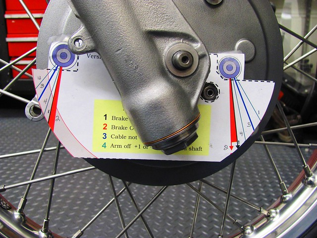Using Scott Lydiard's Front Brake Lever Alignment Template