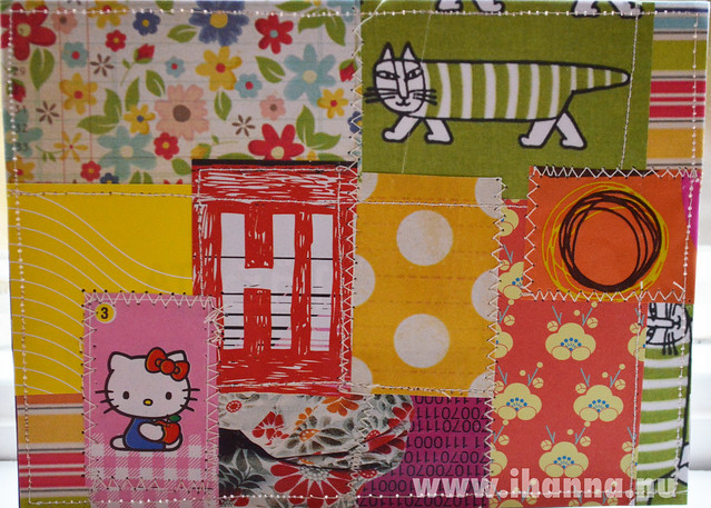 DIY Postcard Pop Art Collage - Hello Hi Kitty