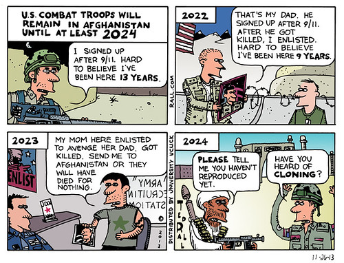 Another Ted Rall cartoon showing white folks with similar features.