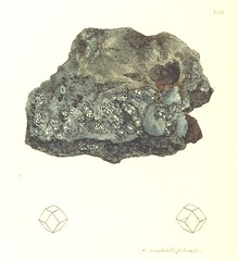 """British Library digitised image from page 406 of """"British Mineralogy: or coloured figures intended to elucidate the mineralogy of Great Britain. By J. Sowerby (with assistance) . F.P"""""""