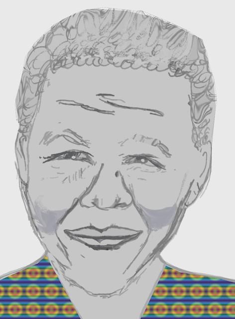Nelson Mandela (artist impression)