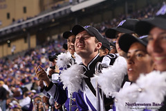 All Smiles ::  	   The Northwestern University 'Wildcat' Marching Band performs at Ryan Field as Northwestern Wildcat Football competes against Western Michigan University on September 14, 2013.  Photo by Daniel M. Reck (GSESP08).