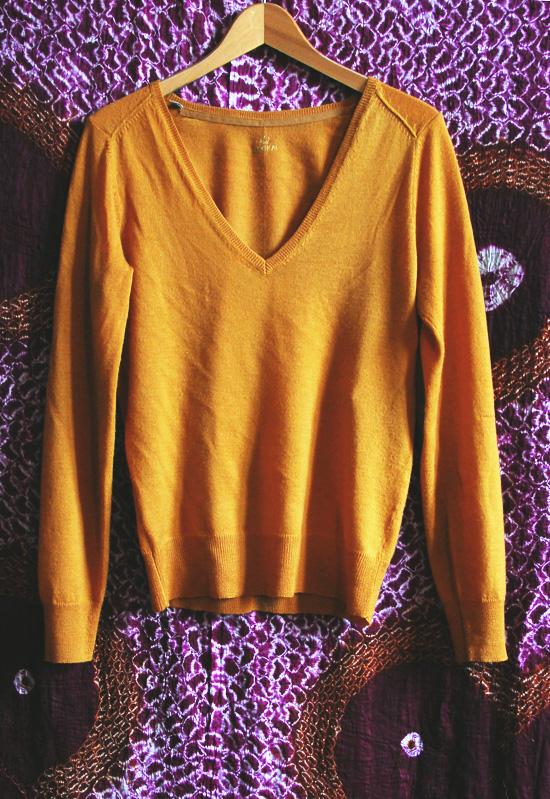 pull jaune moutarde kookai