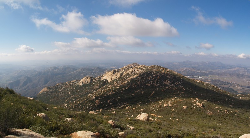 Looking west toward Peak 3367 and Silverdome from the upper slope of El Cajon Mountain