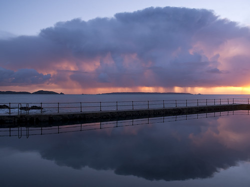 sea sky reflection weather clouds sunrise day cloudy sark guernsey rainclouds