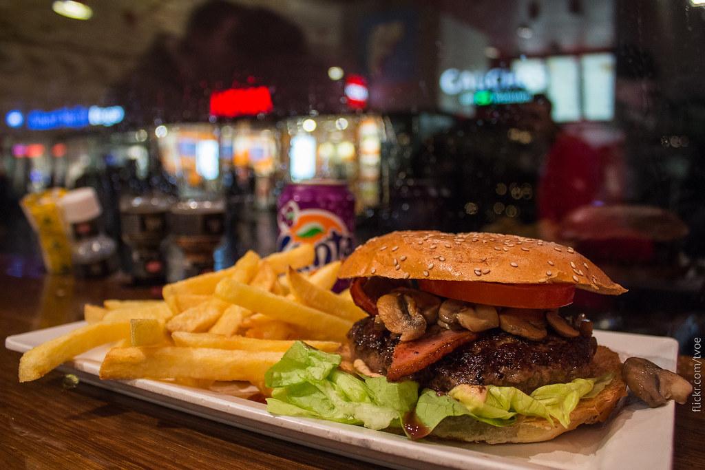 At Burger Bar in Amsterdam