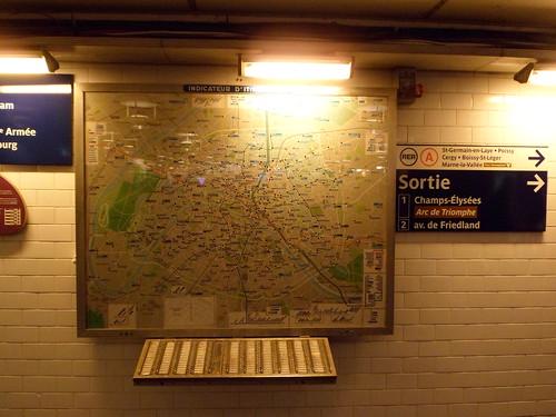 Indicator map for the Paris Metro