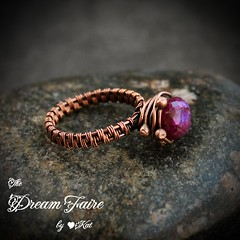 Magenta Moonstone Orbit Ring