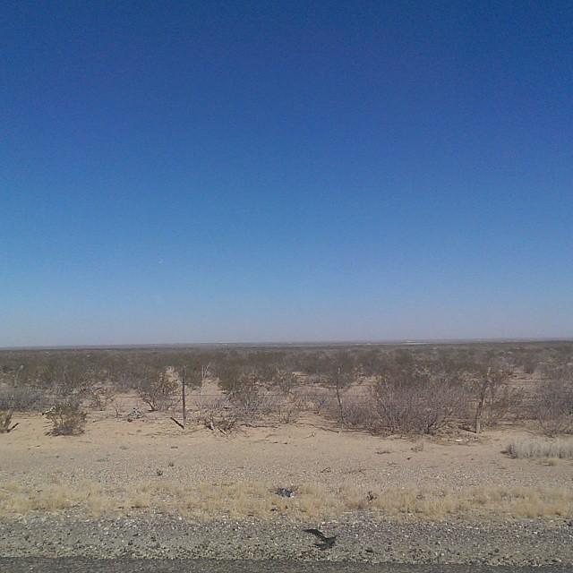 West Texas: Sunny, sandy and eerily empty. #Texas #roadtrip