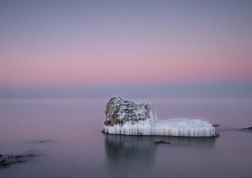 winter mist seascape cold ice sunrise rocks balticsea latvia predawn liepaja