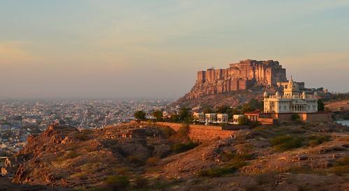 india sunrise 50mm nikon fort sigma ramparts fortress rajasthan inde jodhpur d800 thada meherangarh bluecity jaswant meherangarhfort jaswantthada