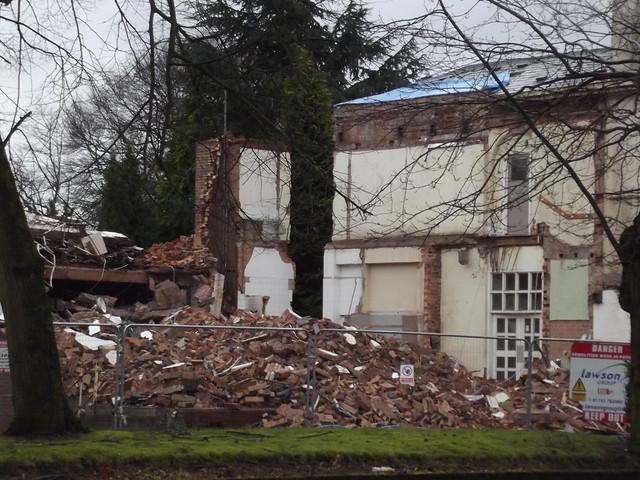 Birmingham Knocking Down Old Building