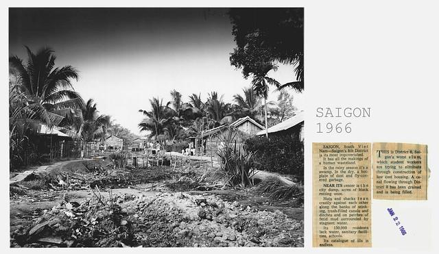 1966 Saigon 8th District Huts and Shacks City Dump - News Service Photo