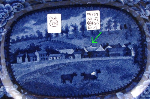 Detail, Chillicothe with cows Platter
