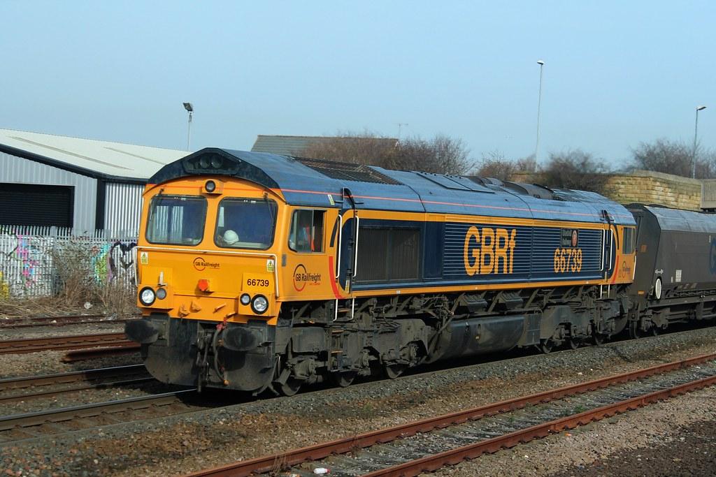 Class 66: 66739 'Bluebell Railway' GBRf Pelaw