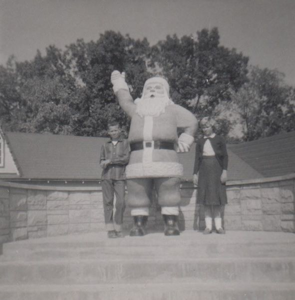Iconic Santa Statue at Santa Claus Land