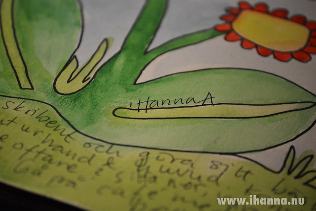 Writing detail - in the grass block