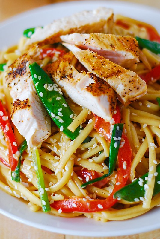 Asian chicken salad, chicken noodles recipe, chicken and noodles, chicken pasta salad, asian sesame chicken salad