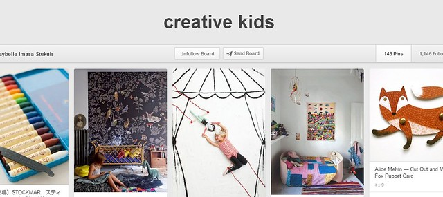 Creative Kids Pinterest Board