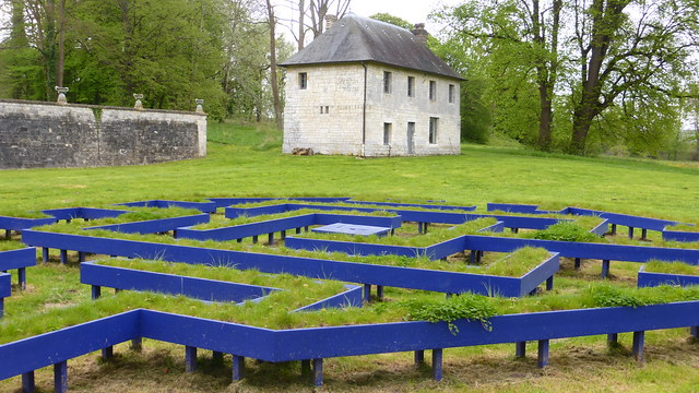 621 Mandala oublié Labyrinthe de méditation--Shigeko Hirakawa, Jumièges