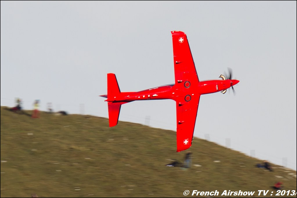 Pilatus PC 21 Exercices de tir d'aviation Axalp 2013