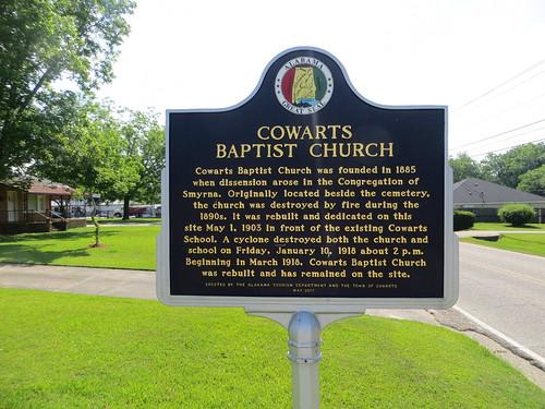 Cowarts Baptist Church Marker Cowarts AL