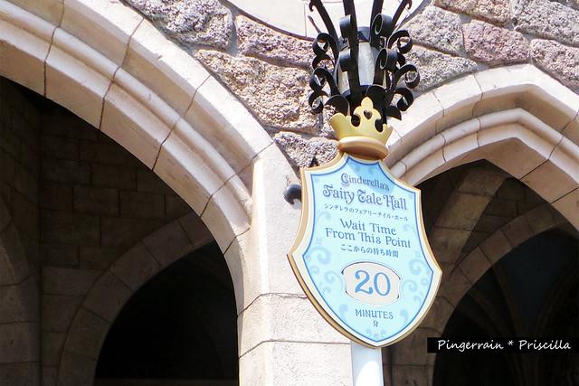 Queue time for Cinderella Castle Tour