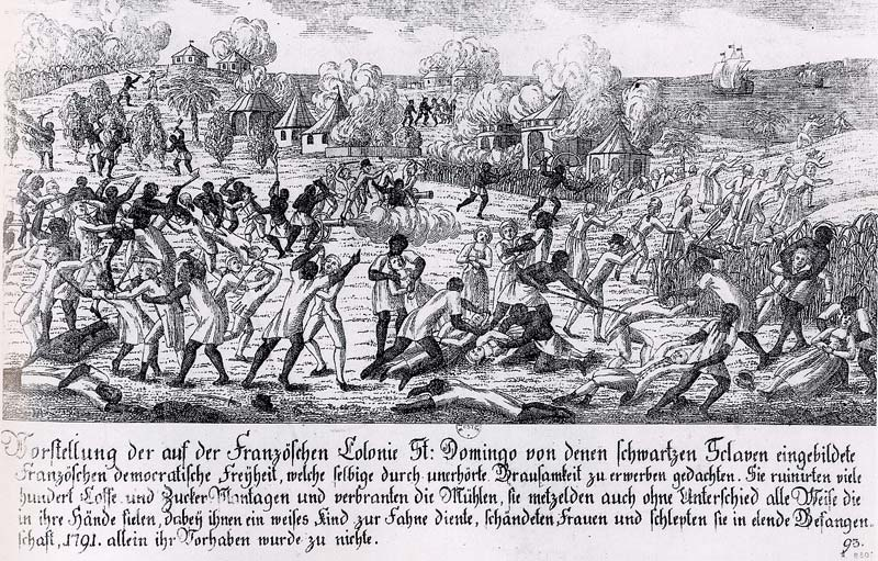 Fire during Saint-Domingue slave revolt in 1791