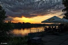 Open-air Café at Sunset
