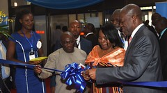 VP Amissah-Arthur officially opening the Mobile and ICT Expo 2015