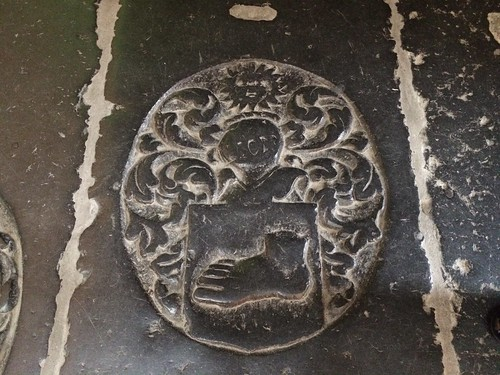 Dutch coat of arms with foot, Nieuwe Kerk, Amsterdam